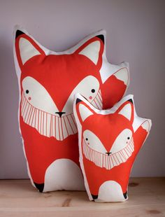 Giant Handmade Fox Pillow, Fox Toy, Stuffed Animal, Baby Toy, Baby Fox Pillow. $50,00, via Etsy.