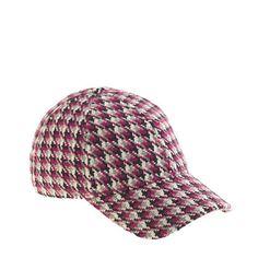 J. Crew Sale Pick: Love this houndstooth baseball cap!