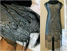 Scarf to Dress - 10 Fantastic Flapper Fashion DIY Projects . Trash To Couture, Scarf Dress, Diy Dress, 20s Fashion, Flapper Fashion, Vintage Fashion, Diy Fashion Projects, Diy Projects, Sewing Projects