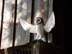 Crochet Barn Owl Pattern PDF by GreatGreyCrochet on Etsy