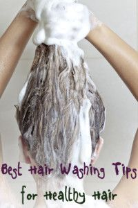 Best hair washing tips to keep your hair healthy.  Interesting...