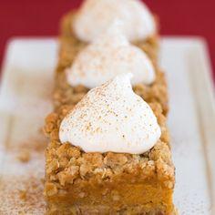 Pumpkin Pie Crumb Bars | What2Cook