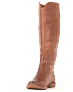 Tall Brown Leather Boot