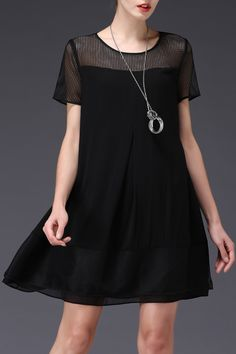See Through A Line Dress