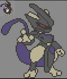Mewtwo Pokemon Perler Bead Pattern by Sebastien Herpin