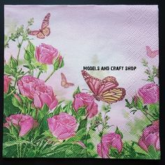 Hobby Shop, Butterfly Flowers, Craft Shop, Paper Napkins, Campaign, Models, Medium, Check, Crafts