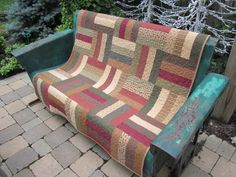 Fall Rail Fence Quilt by thePATchworksshop on Etsy