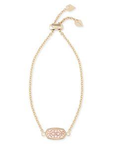 Elaina Gold Adjustable Chain Bracelet in Rose Gold Filigree - Kendra Scott Jewelry