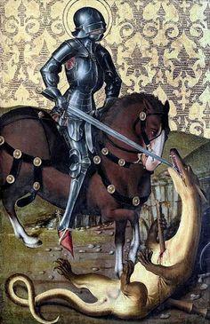 Herlin, Friedrich (b,1425)- Altarpiece of St George'