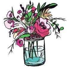 #pop art #illustrative #floral #still life  raspberrybean