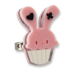 Sweet Pink Bunny Cupcake of Heart Silver Ring from #YesStyle <3 Sweet & Co. YesStyle.com
