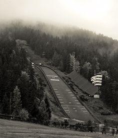 Great Krokiew), the biggest polish ski jumping venue in Zakopane Iron Mountain Michigan, Ski Jumping, Railroad Tracks, Norway, Skiing, Zakopane Poland, Black And White, Cos, Winter