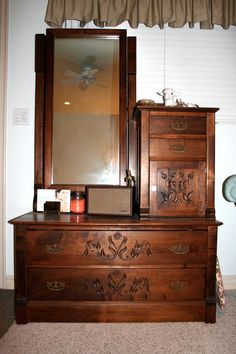 antique chevelle dresser hat box ebay millinery shabby chic powder room sign Shabby Chic Living Room