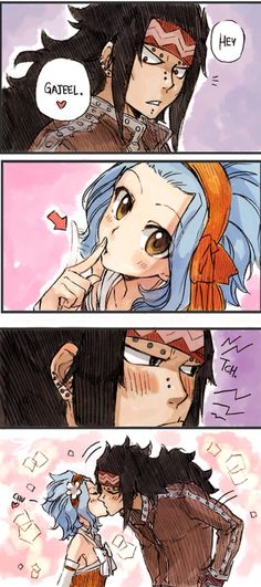 Kiss me--- THIS IS JUST TOO FLIPPING ADORABLE HANDS DOWN!!!!!!!!!!!!!!! >~< CUTEST THING IVE SEEN ALL DAY!!!!!!!!!!!! Drawn be the one and only http://rboz.tumblr.com --- GO CHECK OUT HER ART, IT IS AMAZING!!!!!!!!!! >~<   GaLe   #Fairy Tail