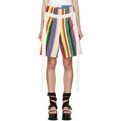 Sacai - Multicolor Striped Shorts