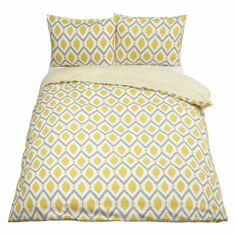 John Lewis Indah Duvet Cover and Pillowcase Set, Saffron. Prices same. 200 thread count.