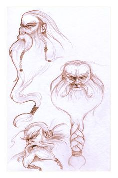 Image detail for -Hobbit Sketches - 01 - Dwarves by *AndyIomoon on deviantART