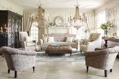 Arhaus - eclectic-living-room