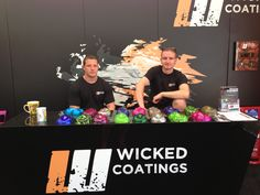 Two handsome rogues awaiting the onslaught of hydrographics enquiries!