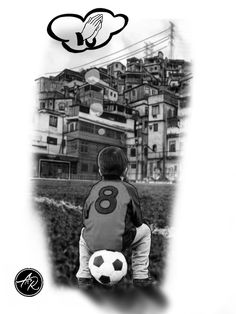 Menino na favela Soccer Tattoos, Leo Tattoos, Tattoos For Guys, Tatoos, P Tattoo, Tattoo Artwork, Tattoo Sleeve Designs, Sleeve Tattoos, Nostalgia Art