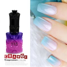 15ML Pro Y&S Temperature Change Color Gel Nail Polish Soak Off Shellac New Tips #YS