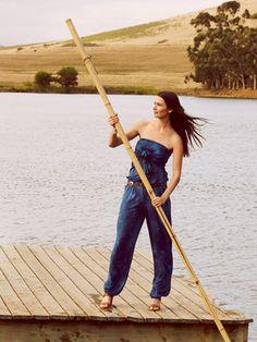 Schnittmuster: Trägerloser Jumpsuit - Bindebänder - Neuheiten - burda style