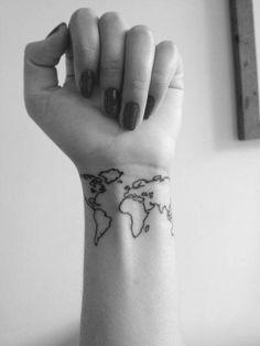 tattoo/ world map