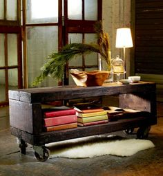 Slab wood used to make a rolling coffee table. No fancy mitre cuts. Any color stain or paint. Casters for mobility. Inside or outside use. Choose your size.