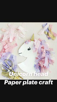Craft Activities For Kids, Preschool Crafts, Diy Crafts For Kids, Toddler Activities, Girl Birthday Themes, Unicorn Birthday Parties, Unicorn Party, Unicorn Diys, Unicorn Crafts