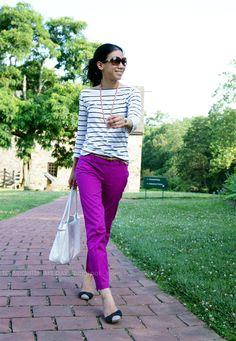 to brighten my day: Stripes, Bows & Fuchsia
