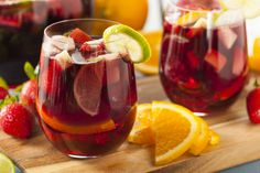 Red Sangria with Fresh Fruit