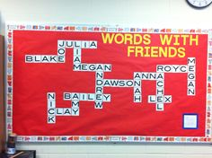Bulletin board I did for the 6th grade class this past year. They loved it and so did their parents :) -KK
