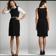Reduced! J crew fitted dress w/ front pockets Perfect for a date night or the office J. Crew Dresses Midi
