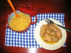 LAS RECETAS DE MAMA ROSA: Conejo y arroz en su salsa