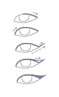 winged eyeliner tutorial. The complete basic drawing. I know this is a tricky thing to accomplish and I have trouble too. But, here is that first drawing to start us off - R