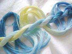 BLUE PANSY - Size 20 - Hand dyed tatting and crochet cotton - 6 cord cordonnet by Yarnplayer