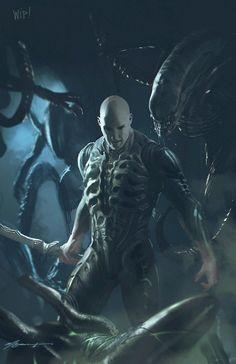 WIP! Alien Covenant / Prometheus Fan art!, Michael Broussard on ArtStation at https://www.artstation.com/artwork/DW20G