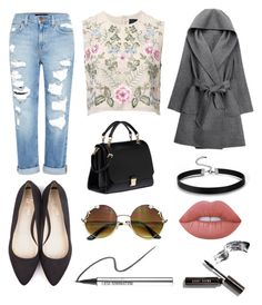 """mon genre de style."" by just-a-hippie ❤ liked on Polyvore featuring Genetic Denim, Beyond Skin, Miu Miu, WithChic, Needle & Thread, Lime Crime, Bare Escentuals and Bobbi Brown Cosmetics"