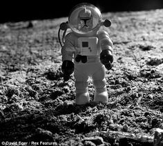 Buzz Aldrin is recast as a stormtrooper in the iconic moment from July 1969