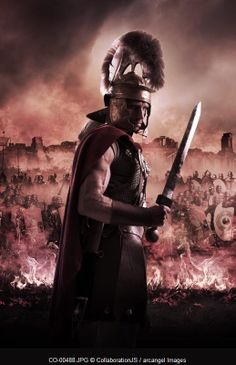 roman centurion © CollaborationJS / Arcangel Images