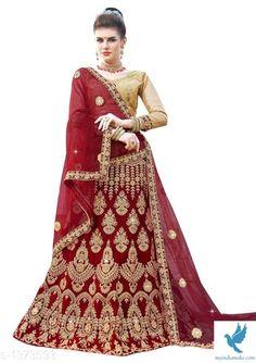 - MYiNDiAMAKE Silk Lehenga, Silk Sarees, Photography Studio Background, Maroon Color, Embroidered Silk, Cotton Silk, Party Wear, Women Wear, Indian