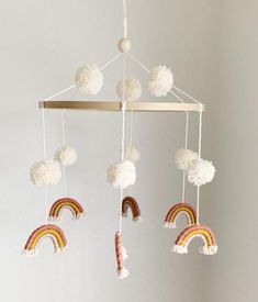 c-h-l-o-e-rainbow-macrame-pom-pom-mobile-nursery-hanging-decor-makkari-c-h-l/ delivers online tools that help you to stay in control of your personal information and protect your online privacy. Boho Nursery, Nursery Room, Girl Nursery, Rainbow Nursery Decor, Peach Nursery, Nursery Mobiles, Baby Room Art, Baby Bedroom, Macrame Projects