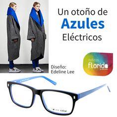 dfc385b098 Tus gafas buscan abrigo. Un otoño de azules eclécticos. #opticasflorida # Mallorca #