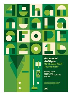 4th Annual AAFOpen Mini Golf Tournament Poster