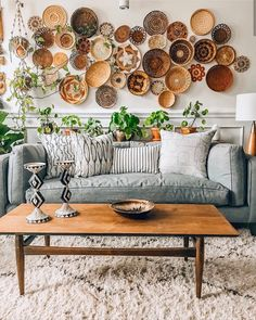 46 Bohemian Interior Design Trend and Ideas 2020 boho home decors, boho home design, bohemian home design, boho home decor ideas Home Decor Baskets, Basket Decoration, Baskets On Wall, Woven Baskets, Bohemian Furniture, Bohemian Interior, Bohemian Homes, Indian Furniture, Style Deco