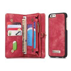 Caseme Detachable Zipper Wallet Case For iPhone 6 Plus & 6s Plus