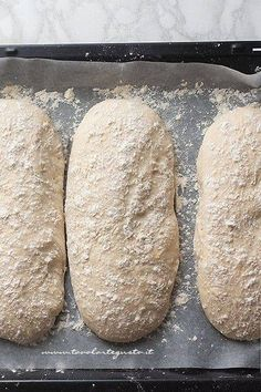 Recipe Homemade bread: Basic bread dough (quick and simple) Ciabatta, Pizza Recipes, Bread Recipes, Pan Indio, Focaccia Pizza, No Knead Bread, Easy Bread, Biscotti, My Favorite Food