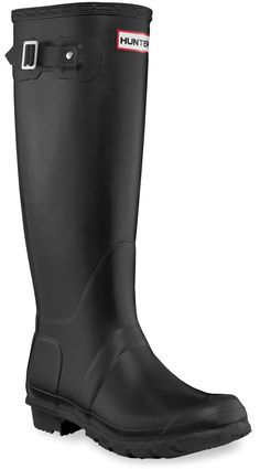 They don't have to be black, but I can't tell you how handy rain boots are for camping!//Hunter Original Tall Wellington Rain Boots - Women's - Free Shipping at REI.com