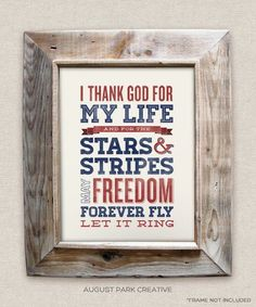Chicken Fried - 8x10- Rustic - Vintage Style - Typographic Art Print - Country Song Lyrics #augustpark #zacbrownband #july4th #chickenfried