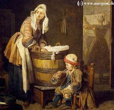 Laundresses by Chardin